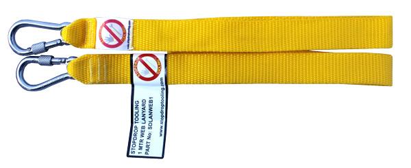 Yellow web tool lanyard